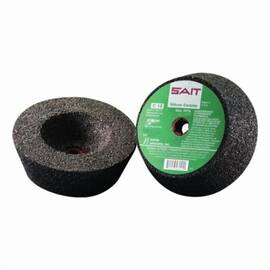 SAIT® Cup Wheel, 4 in Wheel Diameter, 2 in Wheel Thickness, C16 Grit, Coarse Grade, Silicon Carbide Abrasive, Wheel Type Number: Type 11, 9050 rpm Maximum, Applicable Materials: Masonry, Concrete and Stone, 5/8-11 Center Hole Thread Size, Cup Wheel Shape
