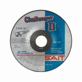 SAIT® Challenger II 27501 General Purpose Grinding Wheel, 4-1/2 In Dia X 1/8 In Thk, 7/8 In, 60/Coarse, Aluminum Oxide Abrasive