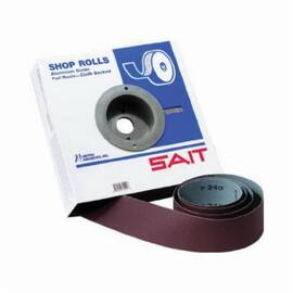 SAIT® 81806 Da-F Open Coated Handy Roll, 1-1/2 In W X 50 Yd L, 180X/Fine, Aluminum Oxide Abrasive, Cloth Backing