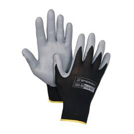 Sperian® by Honeywell 395 Pure Fit™ General Purpose Lightweight Coated Glove, Foamed Nitrile Palm, Abrasion/Cut/Nick Resistant, Black/Gray