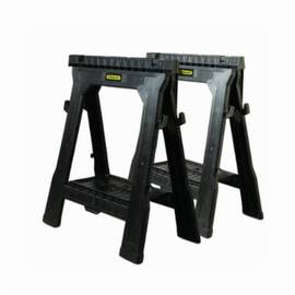 Stanley® 060864R Folding Sawhorse, 1000 Lb Load, 31-1/2 In H X 27-1/2 In W