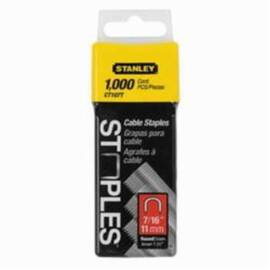 Stanley® Ct108T Heavy Duty Round Crown Cable Staples, 1/2 In L Leg, Divergent Point, 5/16 In W Crown, Steel