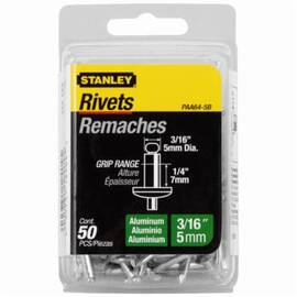 Stanley® Paa64-5B Medium Strength Blind Rivet, 3/16 In Dia, 1-1/2 In L, 1/4 In Grip, Aluminum