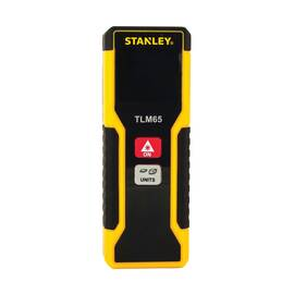 Stanley® Laser Distance Measurer, 65 ft Measuring, +/-1/8 in at 30 ft Accuracy, LCD Display, AAA Battery Power Source, Plastic