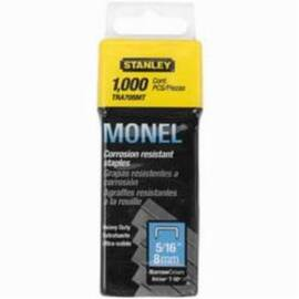 Stanley® Tra705Sst Tra700 Heavy Duty Narrow Crown Staples, 5/16 In L Leg, 27/64 In W Crown, Galvanized Steel