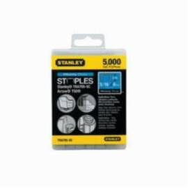 Stanley® Tra708-5C Tra700 Heavy Duty Narrow Crown Staples, 1/2 In L Leg, Chisel Point, 27/64 In W Crown, Steel