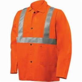 Steiner® 1040RS Weldlite™ Flame Retardant Jacket, Mildew/Rot Resistant, Orange/Silver Reflective Stripe, 30 in Length, Orange
