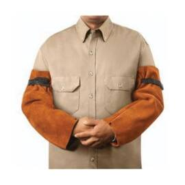 Steiner® 92180 Welding Sleeves, Brown, Premium Side Split Cowhide Leather/Kevlar® Stitching