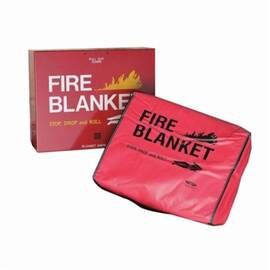 STEINER® BCCOL FIRE BLANKET, GRAY/RED, 70% WOOL/30% BLENDED FIBERS, 84 IN L X 62 IN W