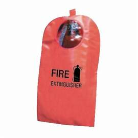 STEINER® XT8W FIRE EXTINGUISHER COVER WITH WINDOW, 9 IN DIA X 27 IN H FITS TANK, 10 OZ HI-VIZ FYR-GLO, RED