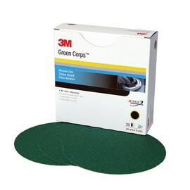 3M™ Green Corps™ Stikit™ 051131-01551 251U Coated Abrasive Disc 8 In Dia