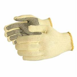 SURE GRIP® SKM2D/M MEDIUM WEIGHT CUT RESISTANT GLOVES, M, 2-SIDED PVC DOTS COATING, KEVLAR®, STRING KNIT WRIST CUFF, RESISTS: ABRASION AND CUT, ANSI CUT-RESISTANCE LEVEL: A3