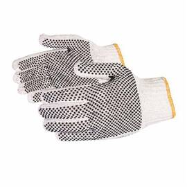 SURE GRIP® SCPD/XS SCPD EXTRA HEAVYWEIGHT GENERAL PURPOSE GLOVES, STRING KNIT, SEAMLESS STYLE, XS, NYLON/PVC DOTTED PALM, COTTON/POLYESTER, NATURAL, KNIT WRIST CUFF, 1-SIDED PVC DOTS COATING, RESISTS: ABRASION, CHEMICAL AND OIL