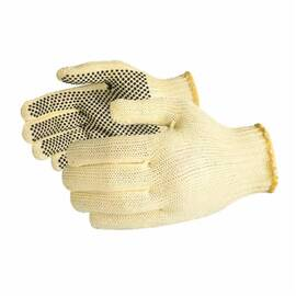 SURE GRIP® SKMD/M MEDIUM WEIGHT CUT RESISTANT GLOVES, M, PVC DOTS COATING, KEVLAR®, STRING KNIT WRIST CUFF, RESISTS: ABRASION AND CUT, ANSI CUT-RESISTANCE LEVEL: A2
