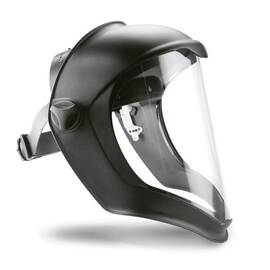 UVEX® BY HONEYWELL S8500 BIONIC® FACESHIELD ASSEMBLY, 9-1/2 IN H X 14-1/4 IN W X 3/64 IN THK, CLEAR, POLYCARBONATE GLASS
