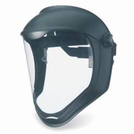 Uvex® By Honeywell S8515 Bionic Face Shield With Hard Hat Adapter, Clear Polycarbonate Glass Visor
