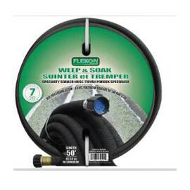 Voltec Weep and Soak Hose, 1/2 in Nominal, 1/2 in ID, 50 ft Length, Rubber, Black, Domestic Domestic/Import