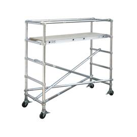 WERNER® Scaffold Base Section, Adjustable Narrow Span, Series: 4100, 8 ft Length, 29 in Width, 500 lb, 22 in Platform Width, 8 ft Platform Height, Aluminum