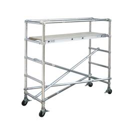 WERNER® Scaffold Base Section, Wide Span, Series: 4200, 6 ft Length, 4.5 ft Width, 1000 lb, 44 in Platform Width, 6 ft Platform Height, Aluminum