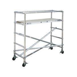 WERNER® Scaffold Base Section, Wide Span, Series: 4200, 8 ft Length, 4.5 ft Width, 1000 lb, 44 in Platform Width, 8 ft Platform Height, Aluminum