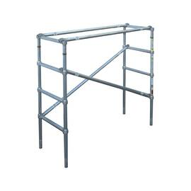 WERNER® Scaffold Upper Section, Wide Span, Series: 4200, 8 ft Length, 4.5 ft Width, 1000 lb, 8 ft Platform Height, Aluminum