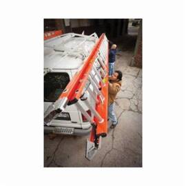 Werner® D6224-2 D6200-2 Flat D-Rung Extension Ladder, 24 Ft OAL, 300 Lb Load, 12 In Adjustable Increments, Fiberglass, A14.5