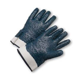 West Chester 4550Rffc 1-Stage Heavy Weight Coated Gloves, L, Full Finger, Nitrile