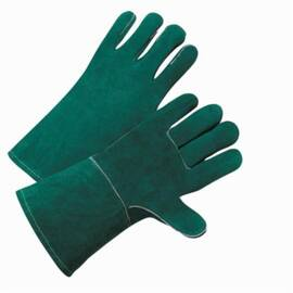 West Chester 940 Premium Grade Welding Gloves, L, Green, Wing Thumb/Reinforced Welted Seams, Split Cowhide Leather/Kevlar® Thread