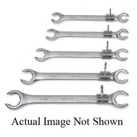 Williams® Tools@Height™ Flare Nut Wrench, Double Head, Measurement System: Metric, 13 x 14 mm Wrench Opening, 6 Points, 6-7/8 in Overall Length, 1 x 1-3/32 in Open End Width, 3/8 x 3/8 in Open End Thickness, Flat Handle, Satin Chrome