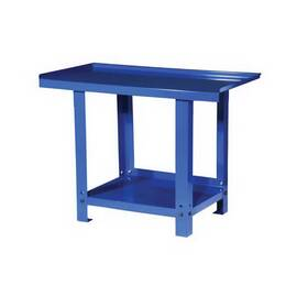 Williams® Professional Work Bench, Heavy Duty, 45-1/4 in Width, 25-3/4 in D, 34-7/8 in Height, Steel, Blue, Panel Leg