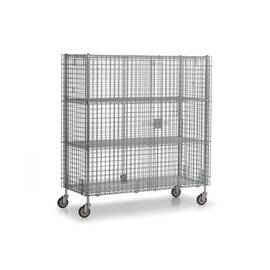 Williams® Bulk Storage Cage, 62 in Width, 28-1/2 in D, 68 in Height, 1800 lb, Polished Chrome