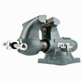 Wilton® 1745 Round Channel Tradesman Vise With Swivel Base, Reversible With 1 Side Serrated/1 Side Smooth Jaw, 4 In Jaw Opening, 4-1/2 In W Steel Jaw, 3-1/4 In D Throat