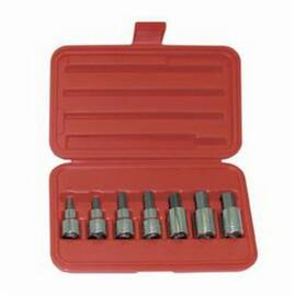 Wright® 405 Socket Bit Set, 1/4 To 5/8 In Hex, 1/2 In Drive, 7 Pieces