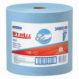 Wypall* 34965 X60 Lightweight General Purpose Wiper, 1100 Sheets, 13.4 X 12.5 In, Hydroknit*, Blue
