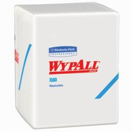 Wypall* 41083 X60 Hygienic Washcloth, 70 Sheets, 43.7 X 20 In, Hydroknit*, White