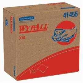 Wypall* 41455 X70 Long Lasting Reusable Cleaning Wiper, 100 Sheets, 9.1 X 16.8 In, Hydroknit*, White