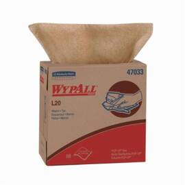 Wypall* 47033 L20 Single Use Cleaning Wiper, 88 Sheets, 16.8 X 9.1 In, Paper, Tan