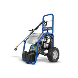 YAMAHA Gas Pressure Washer, 3000 psi Pressure, 192 cc Engine, 2.8 gpm, Gasoline Fuel, Triplex Plunger Pump, 3/8 in Dia x 30 ft L Hose, Recoil Starter, 24 in Overall Length, 26 in Overall Width, 25 in Overall Height, Blue