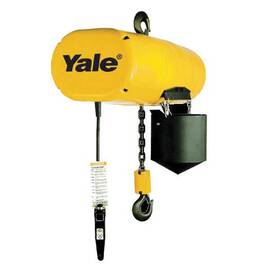CM® Yale® Hoist Electric Chain Hoist, Series: Model XL, 6 ton, 10 ft Lifting Height, 6/2 fpm Lift Speed, 2-Speed Control, Heavy Duty Multiple Disc Brake, 460 VAC