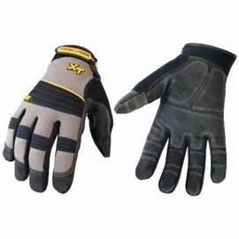 Youngstown® 03-3050-78 Mechanics Glove, Synthetic Leather Palm, Unlined, Gray