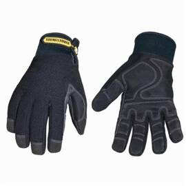 Youngstown® 03-3450-80 Work Glove, Winter Plus Series, Synthetic Leather Palm, Thinsulate™/Waterproof Membrane, Black