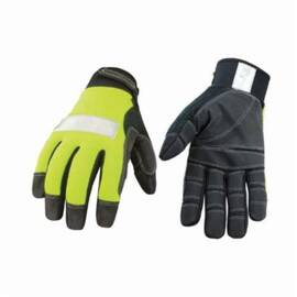 Youngstown® 08-3700-10 Protective Glove, Synthetic Leather Palm, Unlined, Abrasion Resistant, Hi-Viz Green