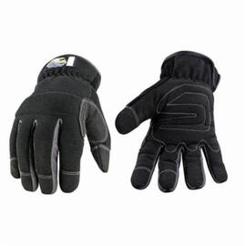 Youngstown® 12-3420-80 Winter Glove, Slip Fit Waterproof Windproof, Polyester/Nylon/Cotton/Spandex®/Elastic, Cold/Cut Resistant, Black