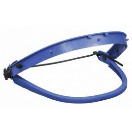 Crews 101 Dielectric Faceshield Bracket, For Use With Hard Hat, Nylon Frame/Rubber Strap, Blue