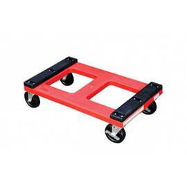 Vestil DOL-1830-P Heavy Duty Padded Top Plastic Dolly, Red, 1000 Lb, 30 In L X 18 In W