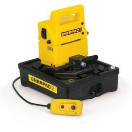 Enerpac® PUJ1401B, Two Speed, Economy Electric Hydraulic Pump, 4/3 Manual Valve, 115V, For use with Double-Acting Cylinders