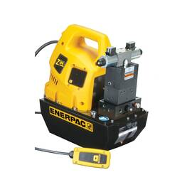 Enerpac® ZU4408SB, Electric Hydraulic Pump, Pro, 4/3 Solenoid Valve with Pendant, LCD Display, 115V, 2.0 gal Usable Oil