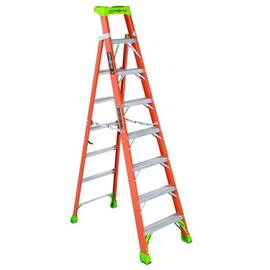 Louisville® FXS1500 Type IA 2-In-1 Cross-Step / Shelf Ladder, 300 lb Load, Fiberglass, ANSI, OSHA, CSA Certified