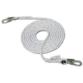"HSI® 5/8"" X 50' Vertical Lifeline Small Double Lock Hook Both Ends"
