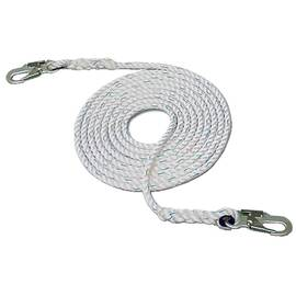 "HSI® 5/8"" X 25' Vertical Lifeline Small Double Lock Hook One End"